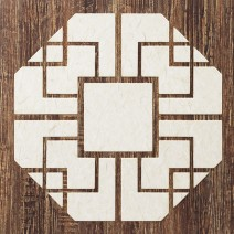 티크 브라운 팔각 (Teak Brown Octagon)